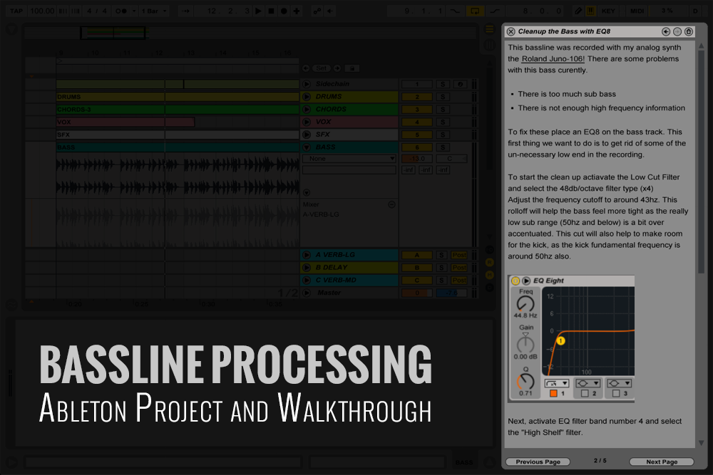 Bassline Processing Ableton Project